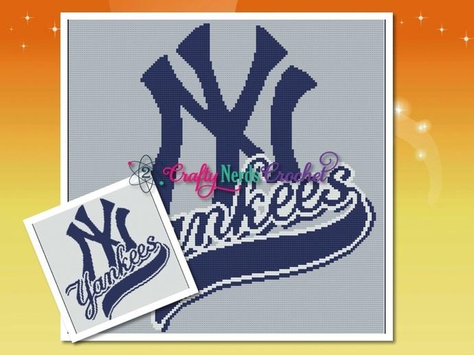 Yankees  Pattern Graph With Single Crochet Written