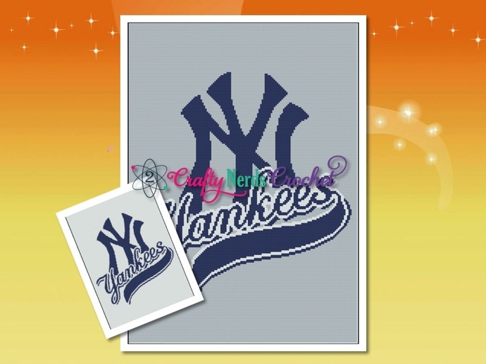 Yankees 1 Pattern Graph With Single Crochet Written