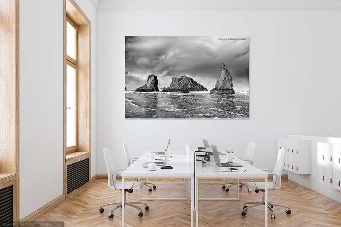 Triad, Pacific Ocean - Black & White