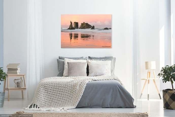 Pacific Coast - Ocean Morning Mirror, Bandon Beach Oregon