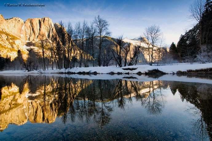 Mirror Reflection, Yosemite, California