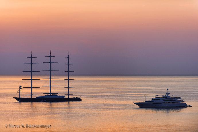 Dawn in the Harbor, Monte Carlo, Monaco
