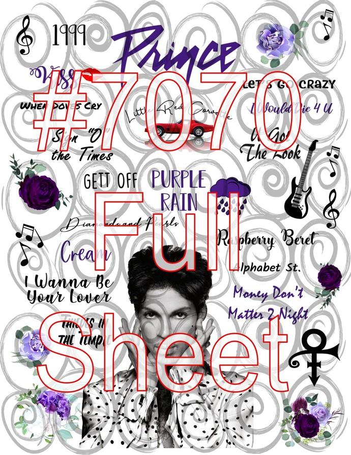 """Waterslide """"Prince"""" #7070 Laser Printed"""