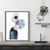 Printable Art set of 3, Art Poster, Digital Download, Wall Decor, navy blue and