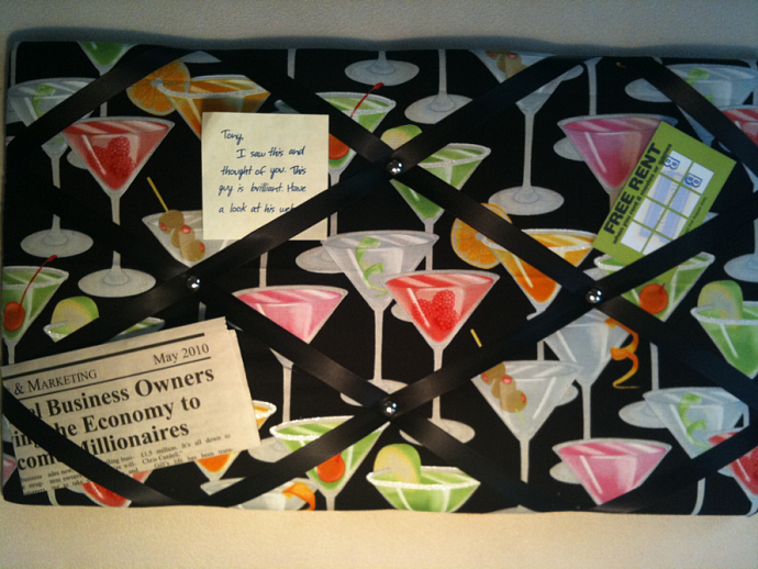 PinBoard/Notice Board/Memo Board/Kitsch Cocktail