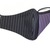 Face Mask - Dusty Purple Stripe with Black and Purple Stripe (Reversible)