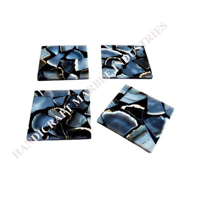 Coaster #4 Blue Agate design Color Coaster Wholesale Price Drink Coaster