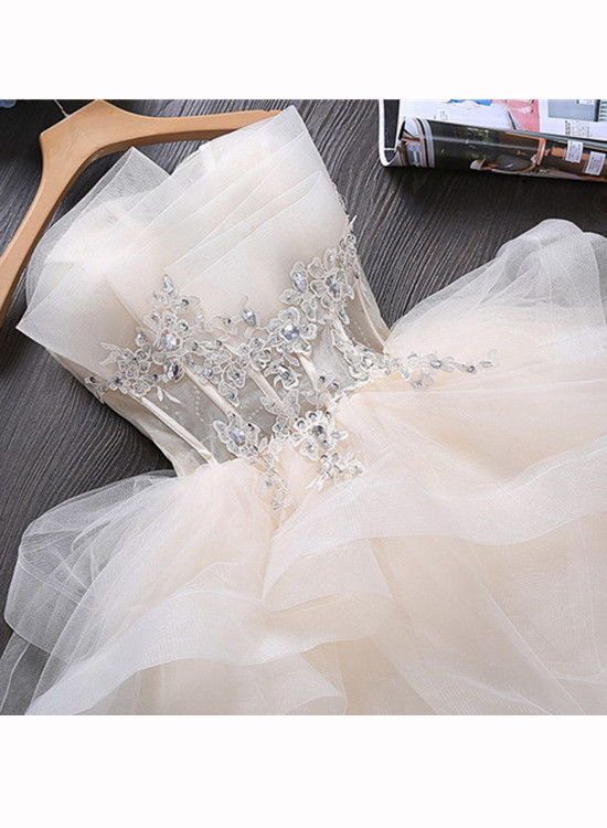Cute Tulle Ball Gown Homecoming Dress, Mini Prom Dress Grduation Dress