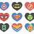 #124 Superhero logo heart Modern Cross Stitch Pattern, logo characters comics,