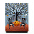 The Celebration of Halloween Original Cat Folk Art Painting