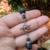 Black Lava Rock and Silver Bracelet