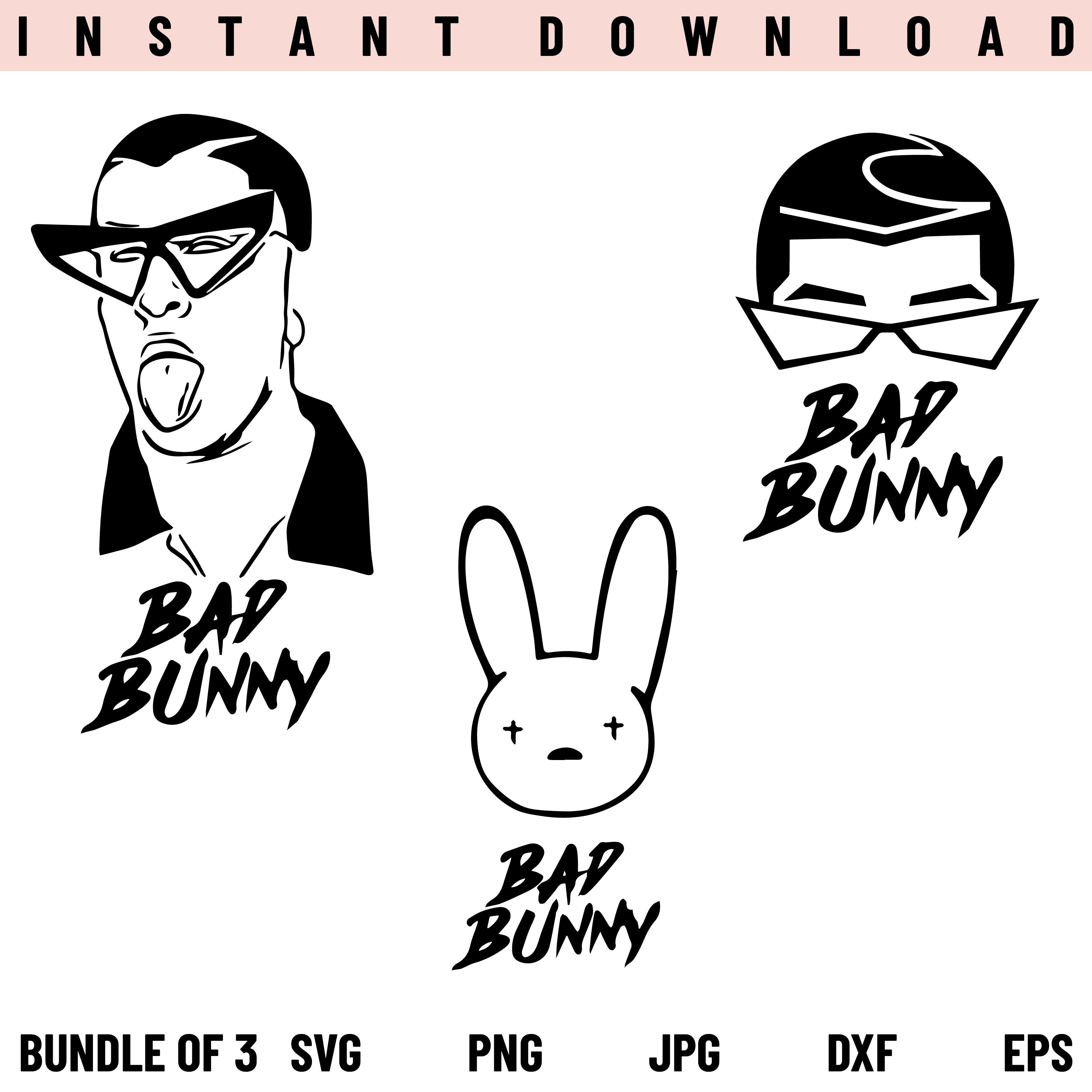 Bad Bunny SVG Bundle, El Conejo Malo SVG, PNG, by ArtNotch ...