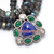 Copy of 925 Sterling Silver Tanzanite Emerald Diamond Pendant,Pave Diamond