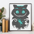 #109 Cheshire Cat Animal face Modern Cross Stitch Pattern, Alice in Wonderland,