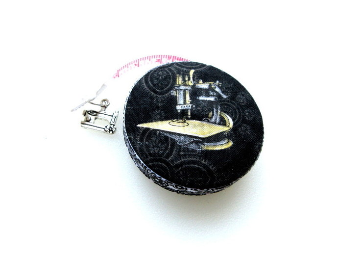 Measuring Tape Antique Sewing Machines Small RetractableTape Measure