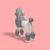 DIY Papercraft Poodle puppy,Lowpoly poodle dog, 3d Papercraft,3d