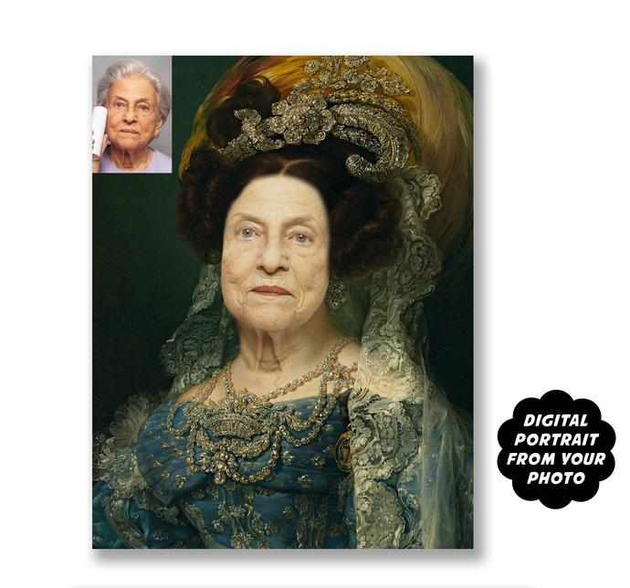 Funny Gag Gift, Personalized Portrait from Photo, Historical Portrait, Add Your