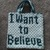 I Want To Believe & Gray Alien C2C Crochet Pattern Halloween Graph Trick or