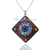925 Sterling Silver Moonstone Kynite Diamond Pendant,Pave Diamond Pendant,