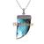 925 Sterling Silver Labradorite Horn Diamond Pendant,Pave Diamond