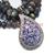 925 Sterling Silver Tanzanite Diamond Pendant,Pave Diamond Pendant,Tanzanite