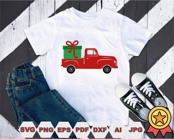 Xmas Trucks Svg, Cut Files, Vector, Digital File, Svg,Xmas Trucks t-shirt,