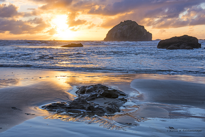 Pacific Coast - Glitter, Bandon Beach, Oregon