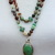 Enchanting, Double wrap, Beaded Necklace, with Pendant, by Knottedup, Boulder