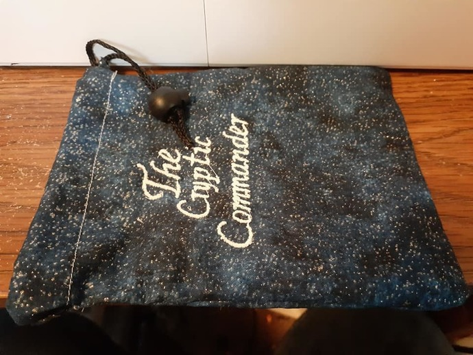 Glitter Blue Cryptic Commander Dice Bag