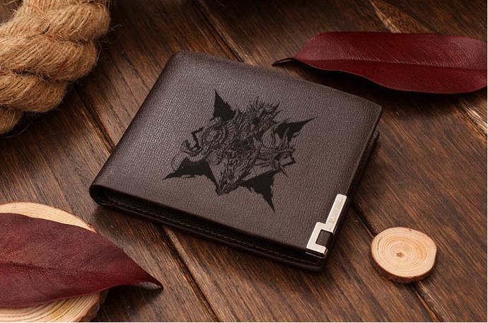 Monster Hunter World Generations Mizutsune  Leather Wallet