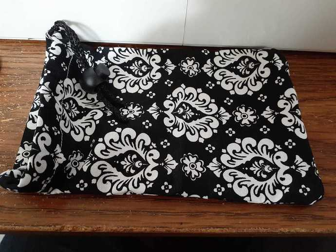 Black and White Damask Dice Bag