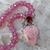 Rhodochrosite Jewelry, Hand knot, Beaded Necklace, with Pendant, Jewelry Gifts,