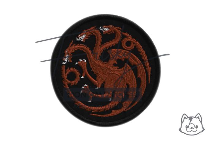 "GoT Targaryen Iron On Patch 3.25"""
