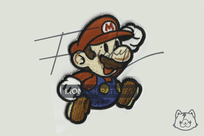 Super Mario Iron On Patch