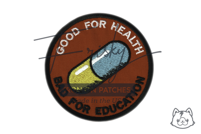 Akira Good for Health Bad for Education Iron On Patch