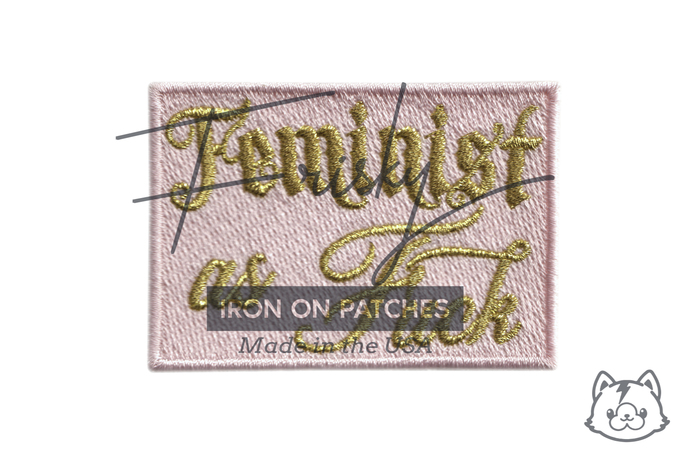 Feminist As F**k! Iron On Patch