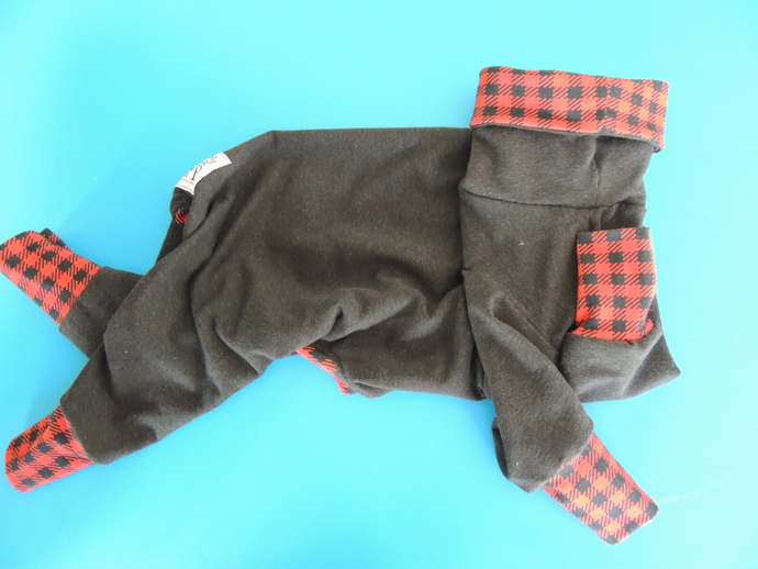 MEDIUM Bamboo & Organic Cotton French Terry Dog Romper