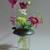 Flower Frog - fits on wide mouth canning jar or vase - dark green