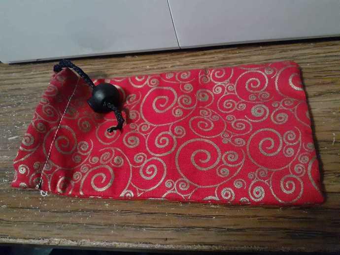 Red Swirls Dice Bag