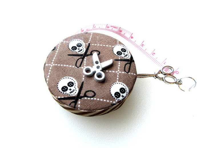 Small Measuring Tape Skulls and Scissors Small Retractable Tape Measure