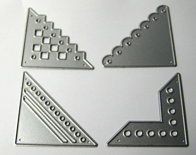 4pc Corner Metal Cutting Dies Style #2
