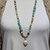 Captivating Face Jewelry, Long Beaded Necklace, with pendant, Exotic Jewelry