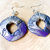 Tiki Collection;  Polymer Clay Diamond Doughnut Dangle Shimmery Earrings with a