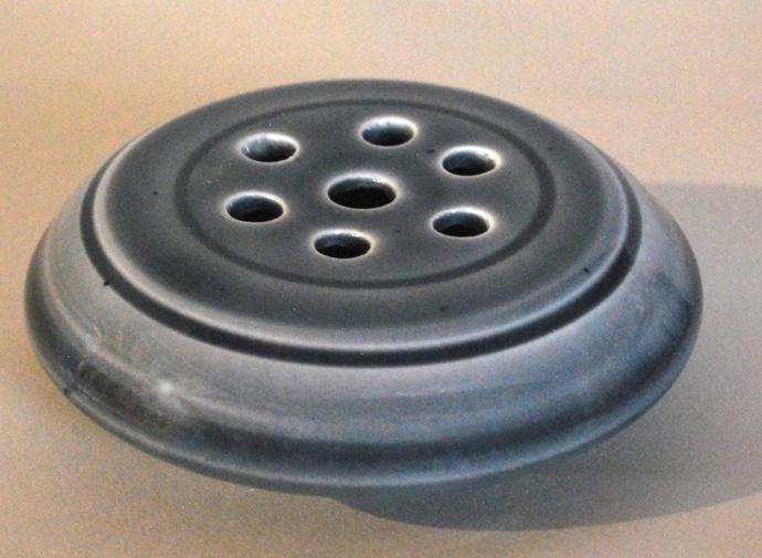 Flower Frogs - fit on wide mouth canning jars or vases - Blue Celadon