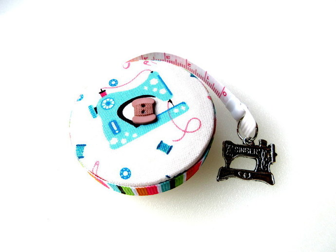 Measuring Tape Retro Sewing Machine and Supplies Small RetractableTape Measure