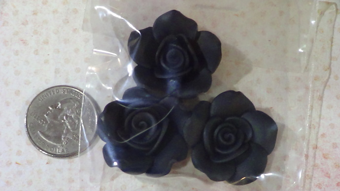 Resin Black Rose #15