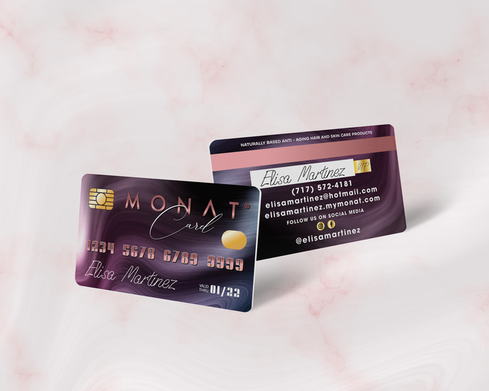 Premium Personalized Monat Business Cards, Monat Credit Card Business Card,