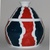 """Jar - Small red, white and turquoise jar - 3 3/4"""" X 5"""""""
