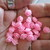 30 x 10mm Beautiful Pink Roses - Acrylic