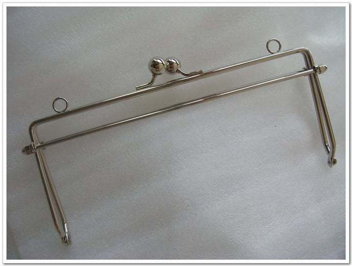 8 inch and 6 inch silver quadrate metal purse frame ,bag frame, handbag frame
